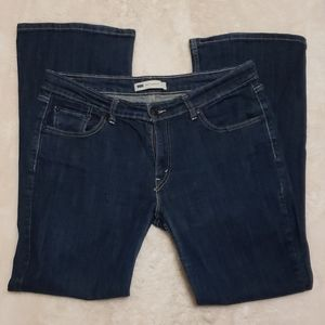 LEVIS Super Low Bootcut Dark Wash Jeans sz 32